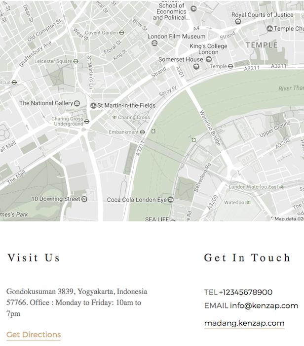 Madang WordPress theme map style, color customization