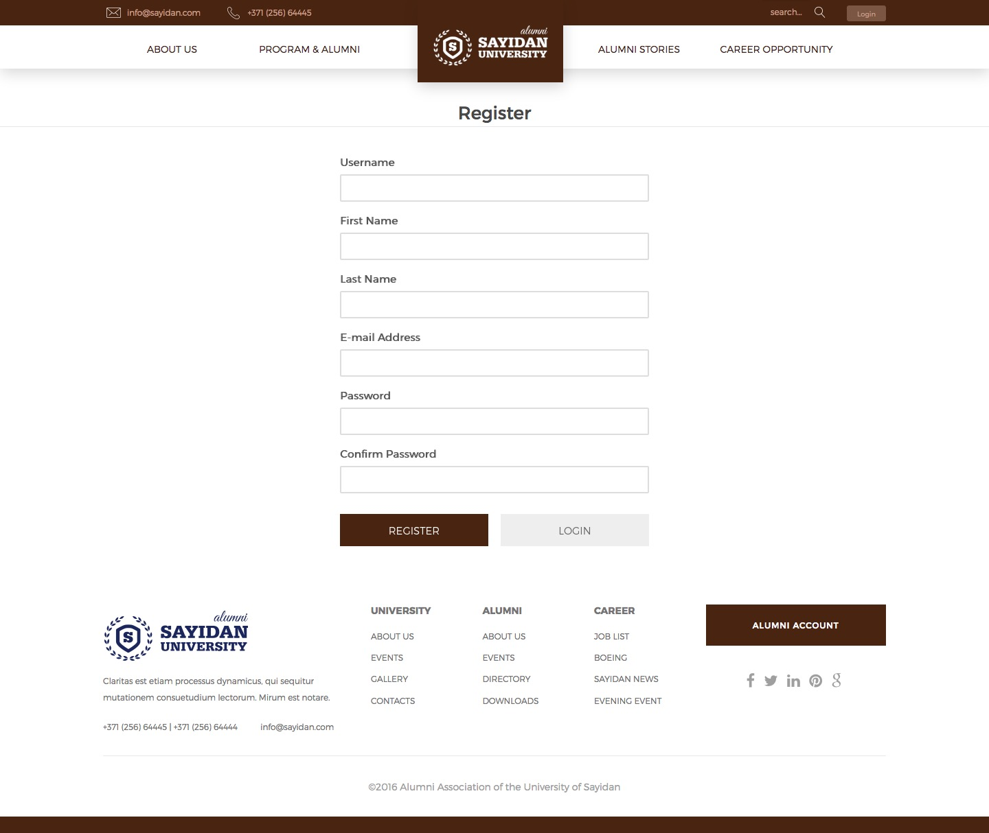 Live Student Registrations - University Alumni Education WordPress Theme